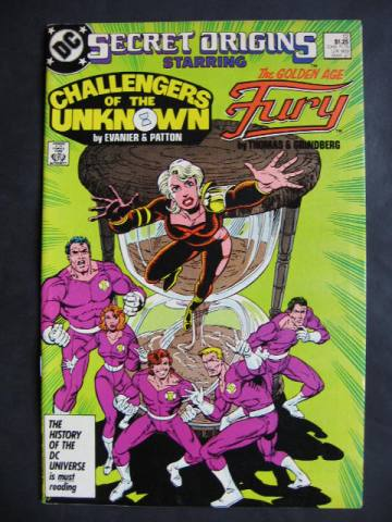 Secret Origins (1986 series) #12 Challengers Of Unknown, Fury